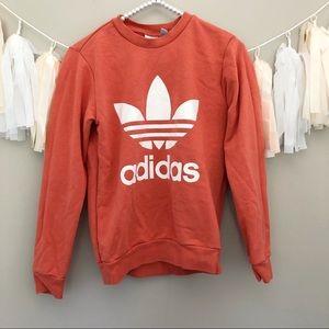 Adidas Girls Pink Sweatshirt Crewneck Pullover